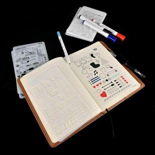 8//12pcs Bullet Journal Stencil Set Plastic Planner DIY Drawing Template Diary
