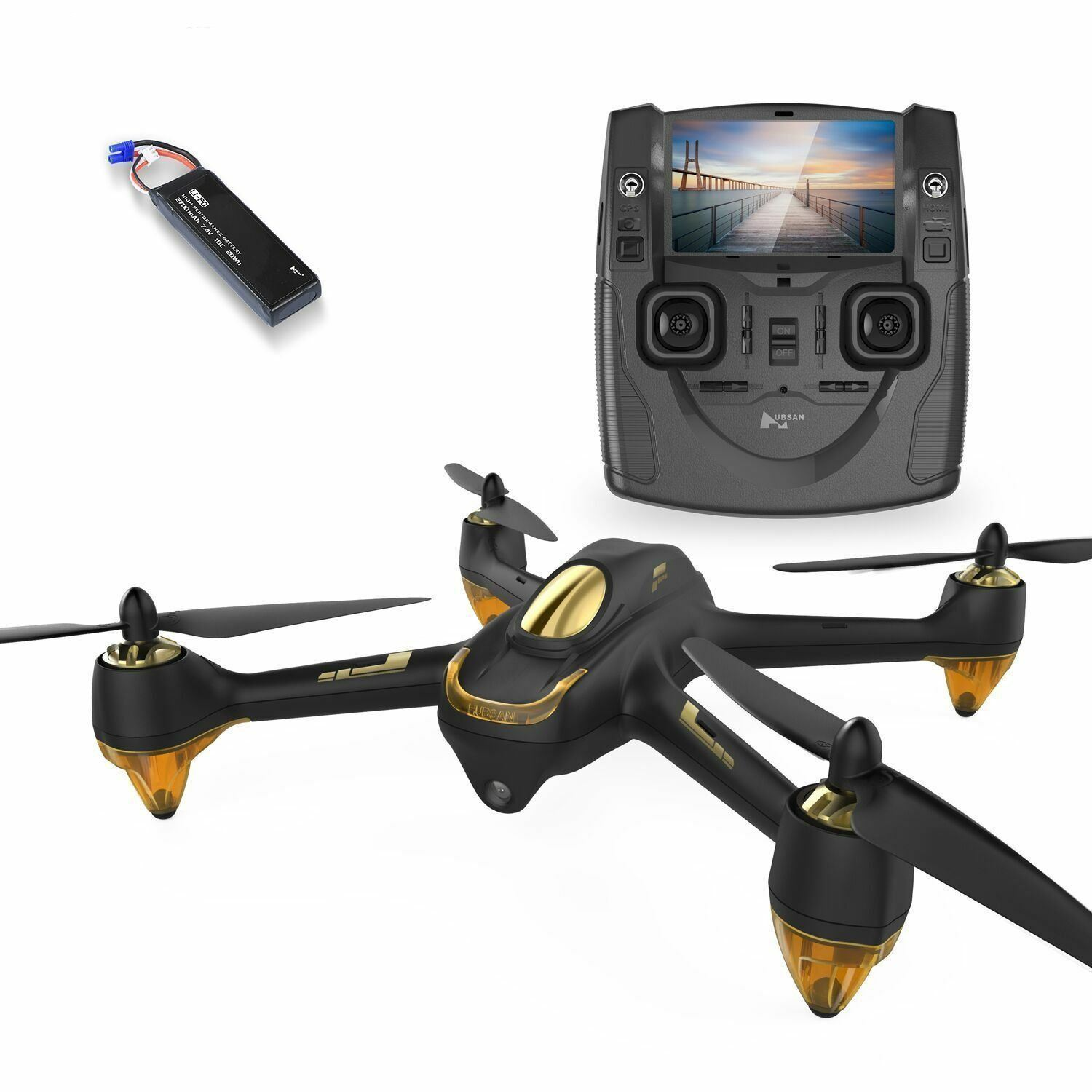 Drone w  4 Channel GPS Altitude Mode 5.8GHz Transmitter And HD Camera Quadcopter