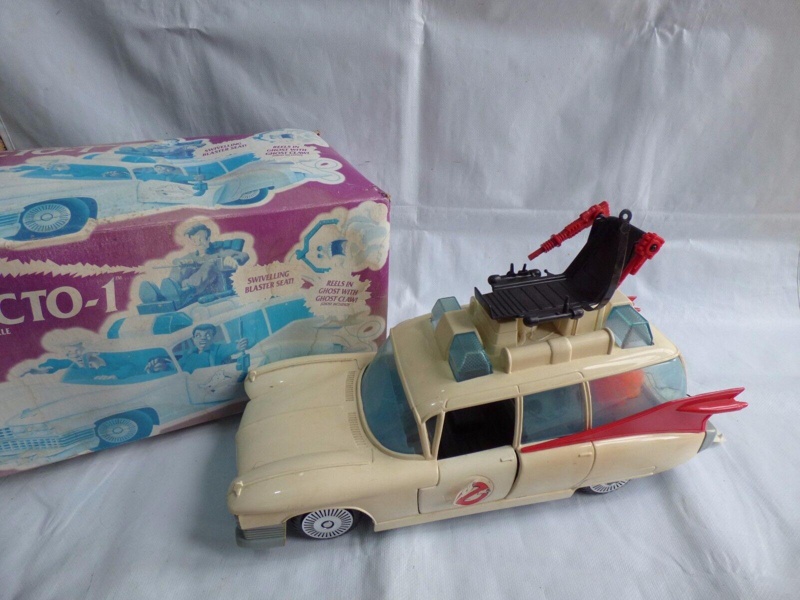 Vintage Kenner Ghostbusters Ecto 1 vehículo coche fantasma Blaster asiento CADILLAC Juguete