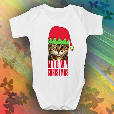 Acquista A Buon Mercato Meowy Christmas Baby Grow | Carino | Natale Babbo Natale | | Gatti | Natale Baby Romper-mostra Il Titolo Originale