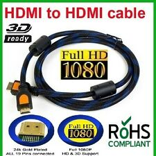 Set Of 2 HDMI v1.3B Male to Male Cable 1.4m LCD Plasma DVD TV PS3 Full HD(N1005)