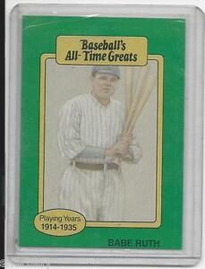 Details About Baseballs All Time Greats Babe Ruth Yankees Baseball Card