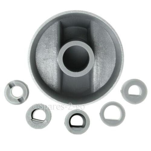 2 X grigio argentato HOTPOINT Cannon Forno Fornello Manopola Di Controllo Piano Cottura Kit Adattatore