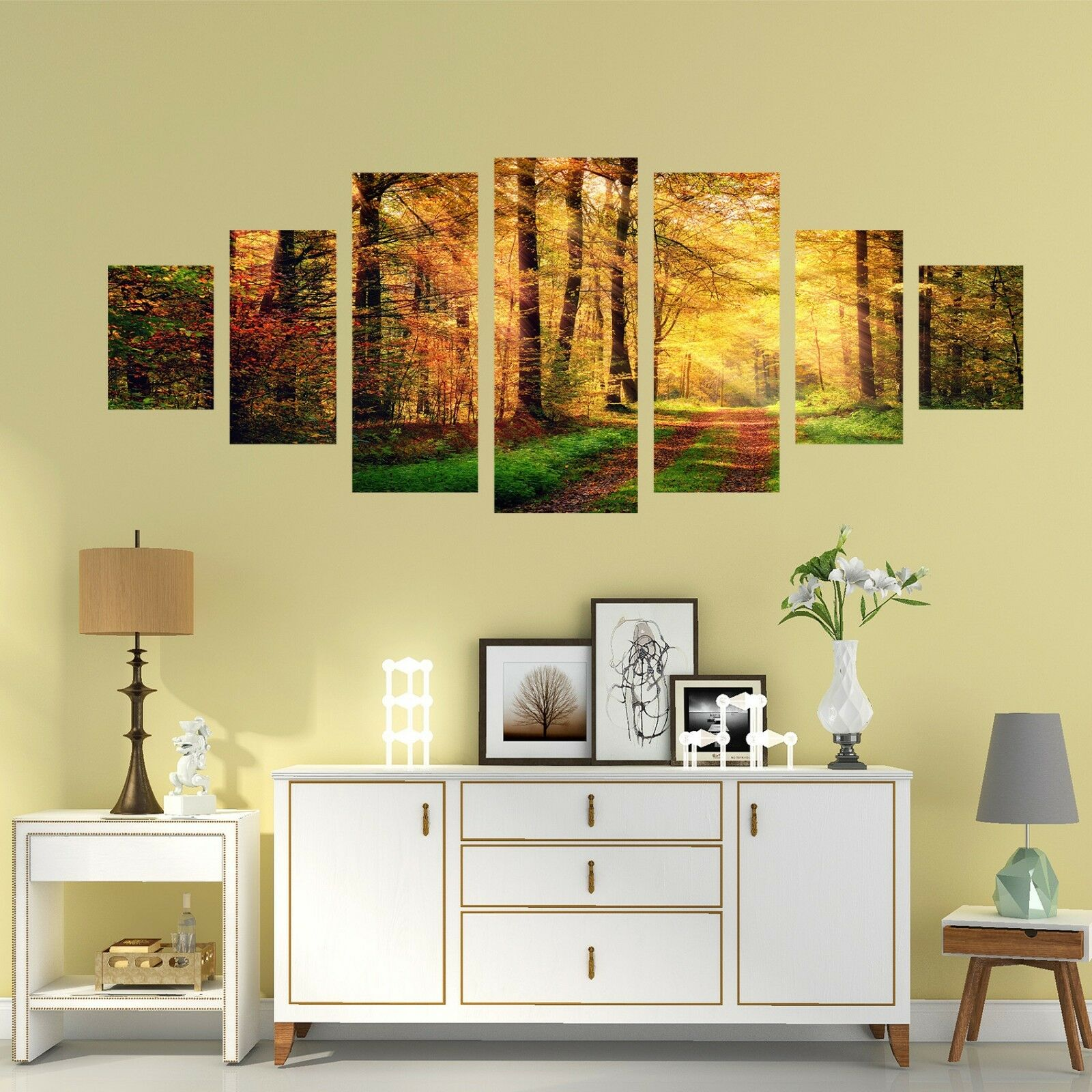 3D golden Forest 66 Unframed Print Wall Paper Decal Wall Deco Indoor AJ Wall