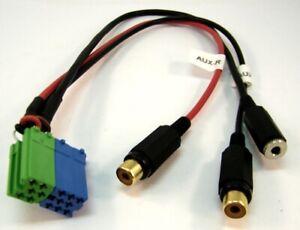 BLAUPUNKT-AUX-Adapter-Kabel-Klinke-Chinch-ISO-Stecker-Ersatzteil-8604492387-Spar