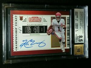 1/1 RC AUTO KYLER MURRAY BGS 8.5/10 *CHAMPIONSHIP TICKET ROOKIE *2019 Contenders