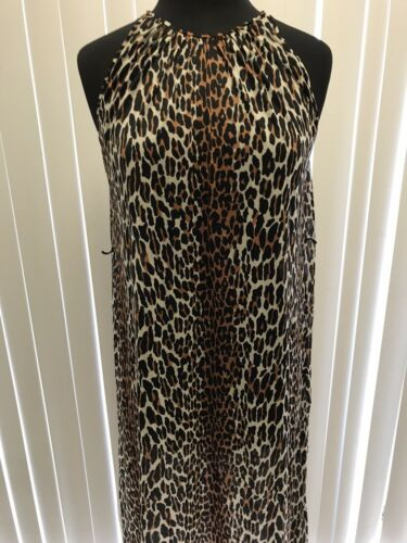 ❤️vtg Leopard Vanity Fair Sheer Nightgown Glam Roc