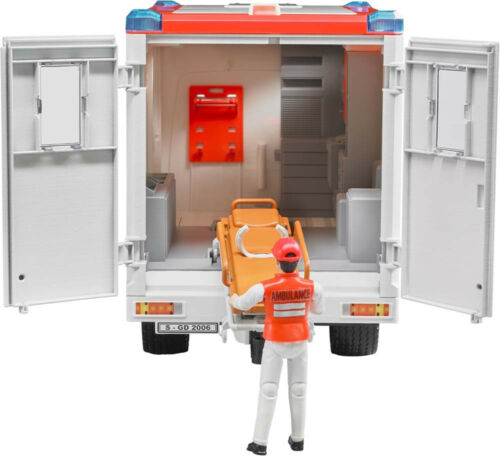 BRU2536 Véhicule de type ambulance MERCEDES BENZ SPRINTER avec personnage et c