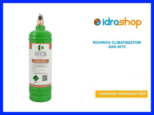 GAS R407C REFRIGERANTE RICARICA PER CLIMATIZZATORI CONDIZIONATORI BOMBOLA
