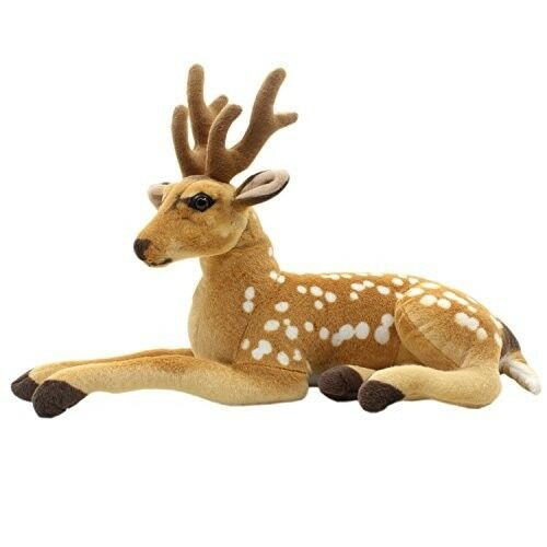 Stuffed Animal Deer Plush Toy Kids Toddler 24  Boy Girl Gift Nursery Decor Nuovo