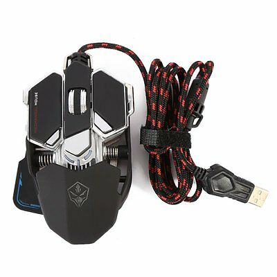 4000 DPI 10D Button LED Optical USB Wired Gaming Mouse Mice For Pro Gamer Laptop