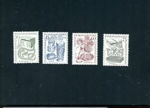 LOT-81717-MINT-NH-736-739-JEWELRY-STAMPS-FROM-CZECHOSLOVAKIA