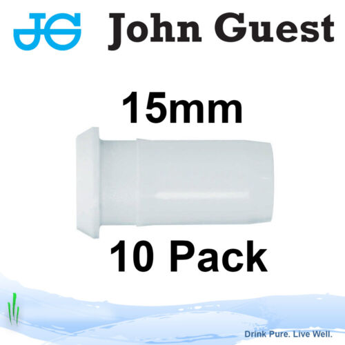 John Guest 15mm Tube Insert//Tube Support for Central Heating and Water Pipes x10