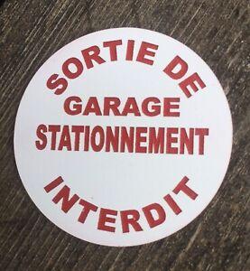 Schild Sortie Garage Einparkhilfe Verboten Namensschild