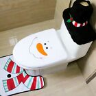 Snowman Toilet Seat Cover and Rug Bathroom Set Christmas Decoration Decor New