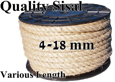 Braided Cord Natural 100/% Sisal Rope Line Hemp Craft Twisted Twine  Cat Scratch