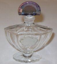 Vintage Guerlain Shalimar Perfume Bottle 1 OZ Cristal Romesnil 1950s Open/Empty