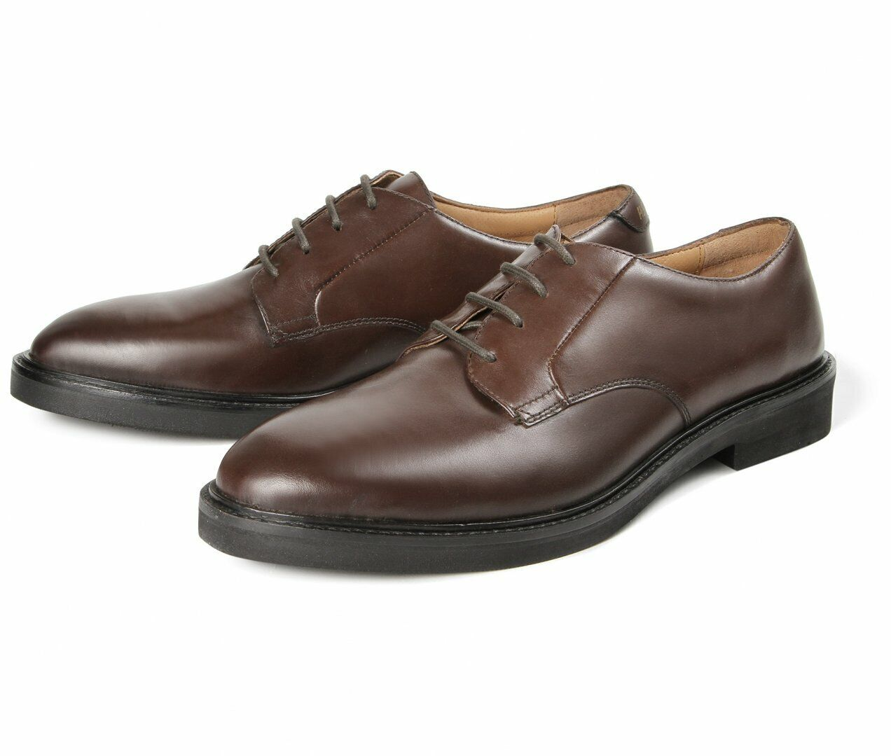 H By Hudson braun Leather Derby Lace Up schuhe 11 45 Lightweight Work Ives New