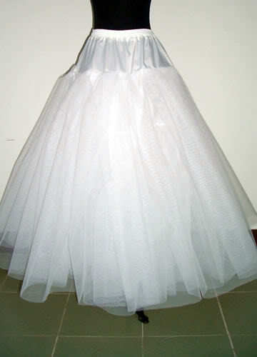 White 6-Layer//8-Layer No Hoop Tulle Petticoat Wedding Gown Crinoline Skirt Slip