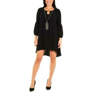 NY-Collection-Women-039-s-Plus-Necklace-Long-Sleeve-High-Low-Dress-MSRP-70-NWT