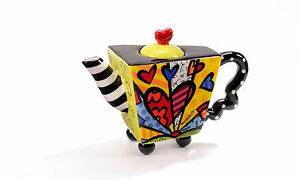 ROMERO BRITTO MINI TEAPOT - A NEW DAY  ** NEW **