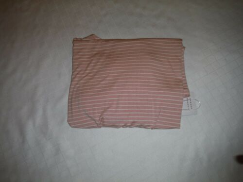 Short Sleeve Cold Open Shoulders Blouses LC Lauren Conrad LG Light Pink Striped