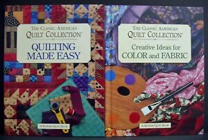 Details About 2 Classic American Quilt Collection Pattern Book Quilting Made Easy Color Fabric