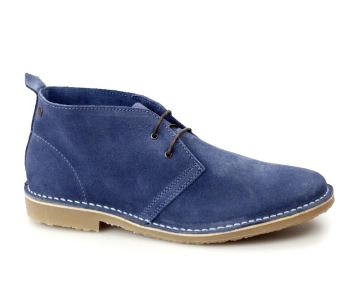Jack & Jones Mens UK 12 EU 46 Blau Suede Gobi Desert Stiefel schuhe FREE DELIVERY