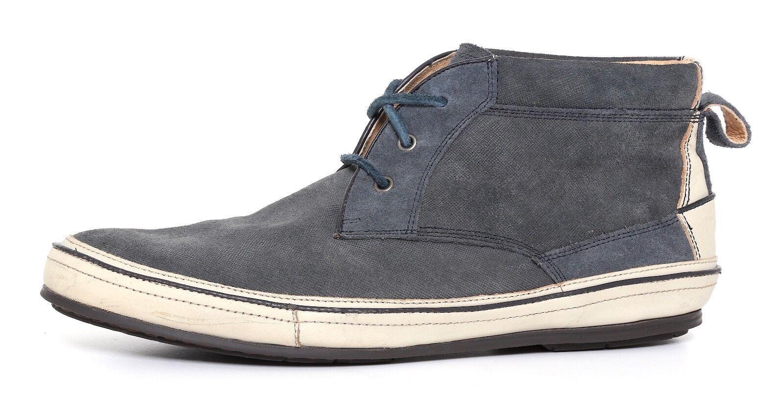 John Varvatos Ankle Stivali Suede Navy Blue Uomo Sz 9.5 M 1137