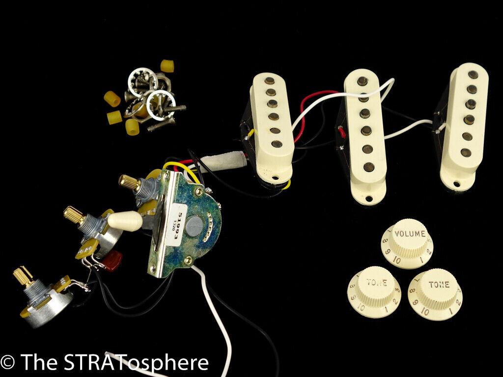 Fender 50s RI Road Worn Strat PICKUPS POTS SWITCH KNOBS Stratocaster SALE