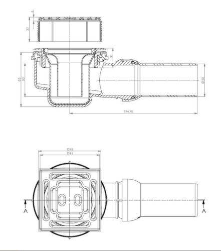 Duschelement Duschboard 120x120 cm mit mineralischer Spezialbeschichtung