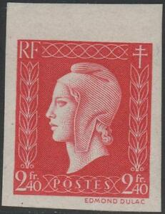 FRANCE-STAMP-TIMBRE-N-693-a-034-MARIANNE-DE-DULAC-2F40-ROUGE-ND-034-NEUF-xx-TTB-J852