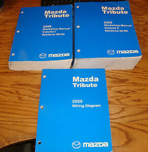 Original 2009 Mazda Tribute Shop Service Manual Vol 1 2 ...
