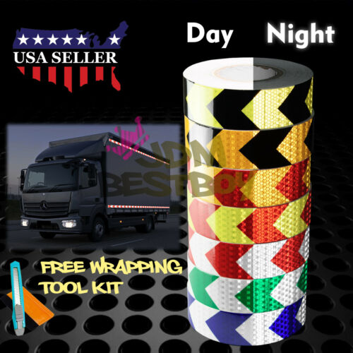 *Arrow Conspicuity Tape 2x120' Reflective Safety Warning Sign Car Truck RV