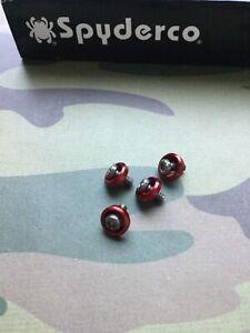 Spyderco Manix 2 • Red Stud Scale Insert Screws • Custom Upgrade