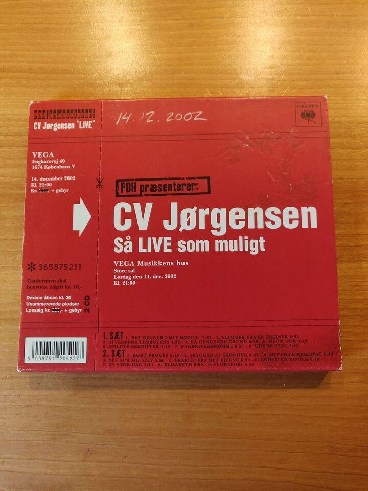 C.V. Jørgensen: Så Live Som Muligt, rock