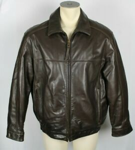 Marc-New-York-FIRST-CLASS-Brown-Soft-Leather-Jacket-Coat-Bomber-Sz-Large