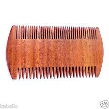 BEST DEAL ! Wood Beard Comb Dual Action - Fine & Coarse Teeth Top Wooden Beard