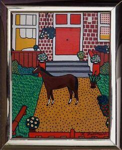 Expressionist-Naive-Malerei-K-Hoffmann-1976-verzeichnet-Galerie-Eisenmann-x