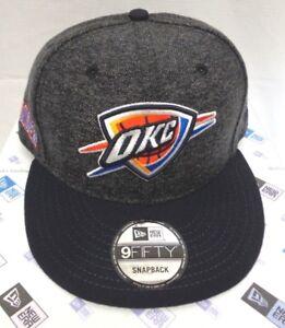 3ac0c2ee OKC Oklahoma City Thunder Men's New Era 9FIFTY Tweed Turn Snapback ...