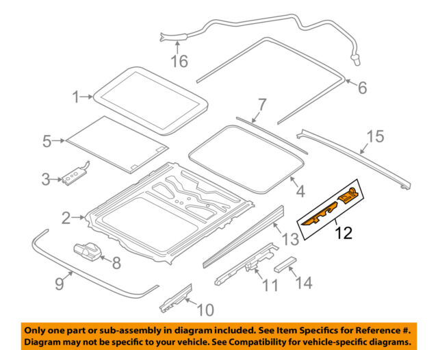 Bmw Oem 54107209196 Sunroof Repair Kit Ebay