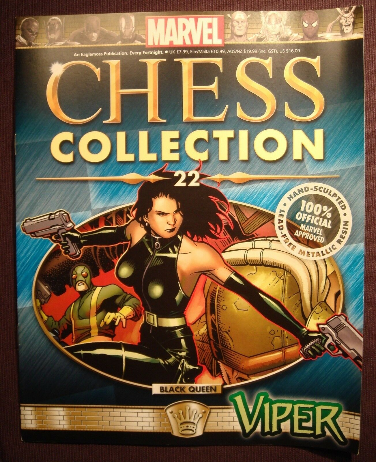 Eaglemoss Marvel Chess Collection Magazine Iusse  22 Viper Magazine Collection Only No Figure abf70c