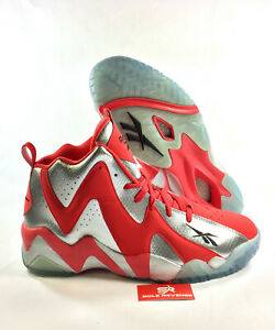 New 13 Reebok SHAWN KEMP KAMIKAZE 2 Mid Shoes Red Gray Fish Market ... ebab914b9