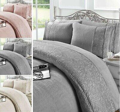 New Madison Pleat Style Duvet Covers Super Soft Cozy Teddy Fleece Bedding Set NZ