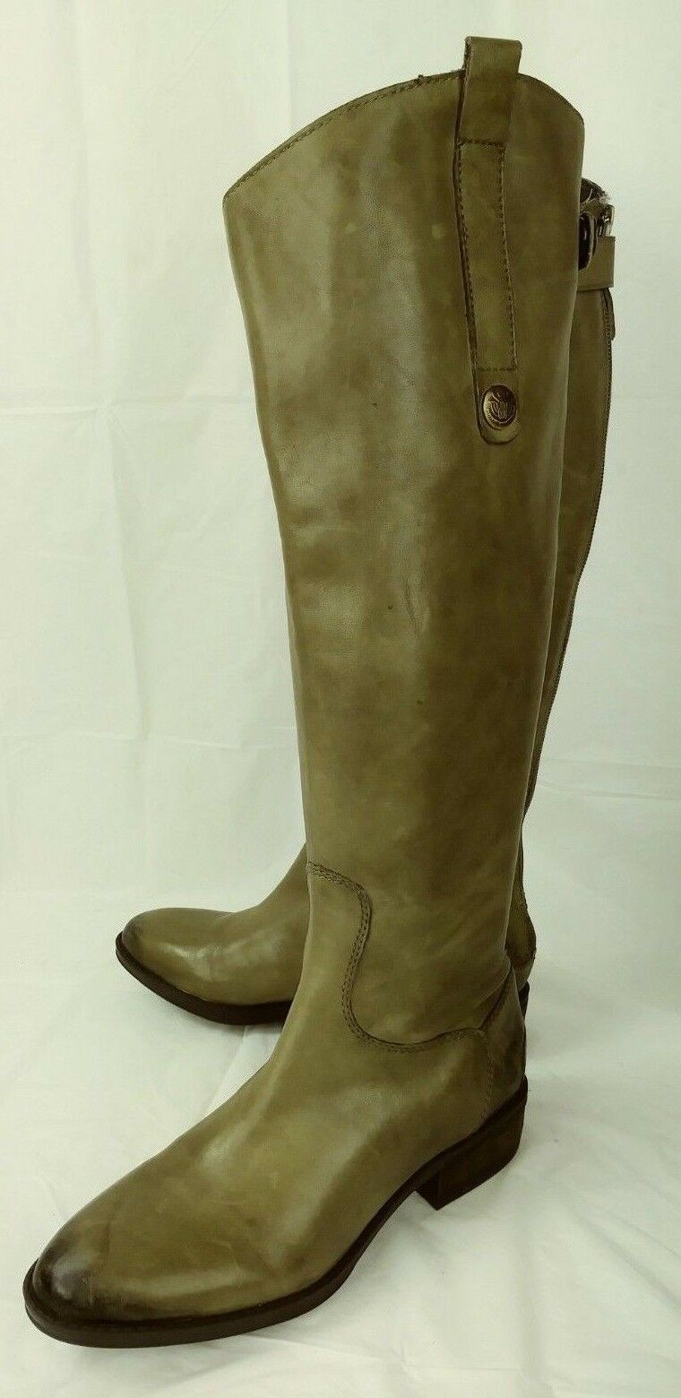Sam Edelman PENNY Damenschuhe Stiefel Tall US 4.5 M Olive Casual Leder Casual Olive Riding 1467 957c64