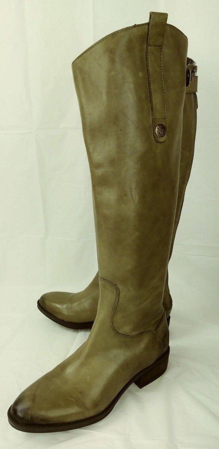prezzo più economico Sam Edelman PENNY donna donna donna stivali Tall US 4.5 M Olive Leather Casual Riding 1467  alta qualità genuina