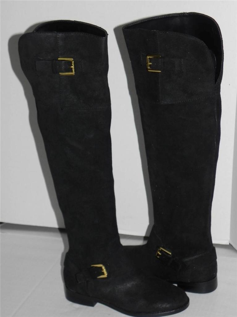 prezzi bassissimi Ralph Lauren Jeannette nero Suede Over Over Over the Knee Riding stivali 5  prezzo all'ingrosso