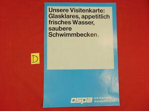 Schlosser Rational Ospa Die Moderne Wasserpflege.glasklares,appetitlich Frisches Wasser Ca.30x21cm. Sonstige