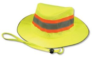 Image is loading NEW-Safety-Yellow-Reflective-hi-vis-Boonie-Hat- d44b888e7f60