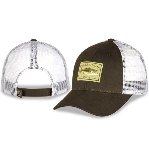 Branchies N Jeu Bass Fishing LUNKER patch Prairie poussière et blanc Mesh Hat